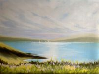 """'Morning Sailing' 18x14"""" oil on canvas paper SOLD"""