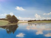 'Woburn Abbey' oil on board 24x18