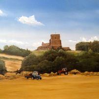 'The Harvest: Shillington' oil on board SOLD