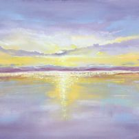 'Violet Reflections' oil on board SOLD