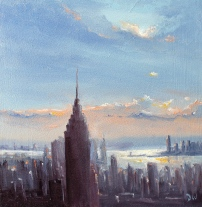 'New York Skyline' 8x8 SOLD