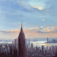 'New York Skyline' 8x8 SOLD