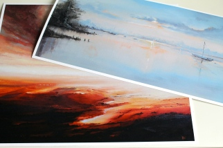 Giclee Prints: 'Dawn Refections' & 'Sienna Clouds'