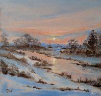 'Winter Stream' 30x30cm £130
