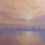 'New York Haze' 76x76cm SOLD