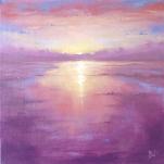 'Violet Horizon' 30x30cm SOLD