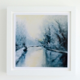 giclee-print-art-print-landscape-oil painting-winter-2-framed